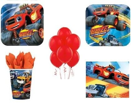 Official Blaze and the Monster Machines birthday party Supplies - Will make planning for a Blaze