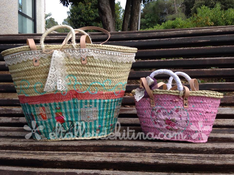 Cestos vintage por encargo. en www.eltallerdekitina.com