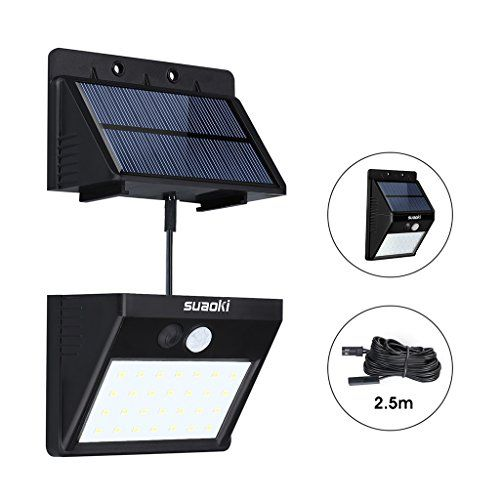 Suaoki Solar Lights Outdoor Super Bright 28 LED Waterproof Motion Sensor  Security Light Detachable Design Wall
