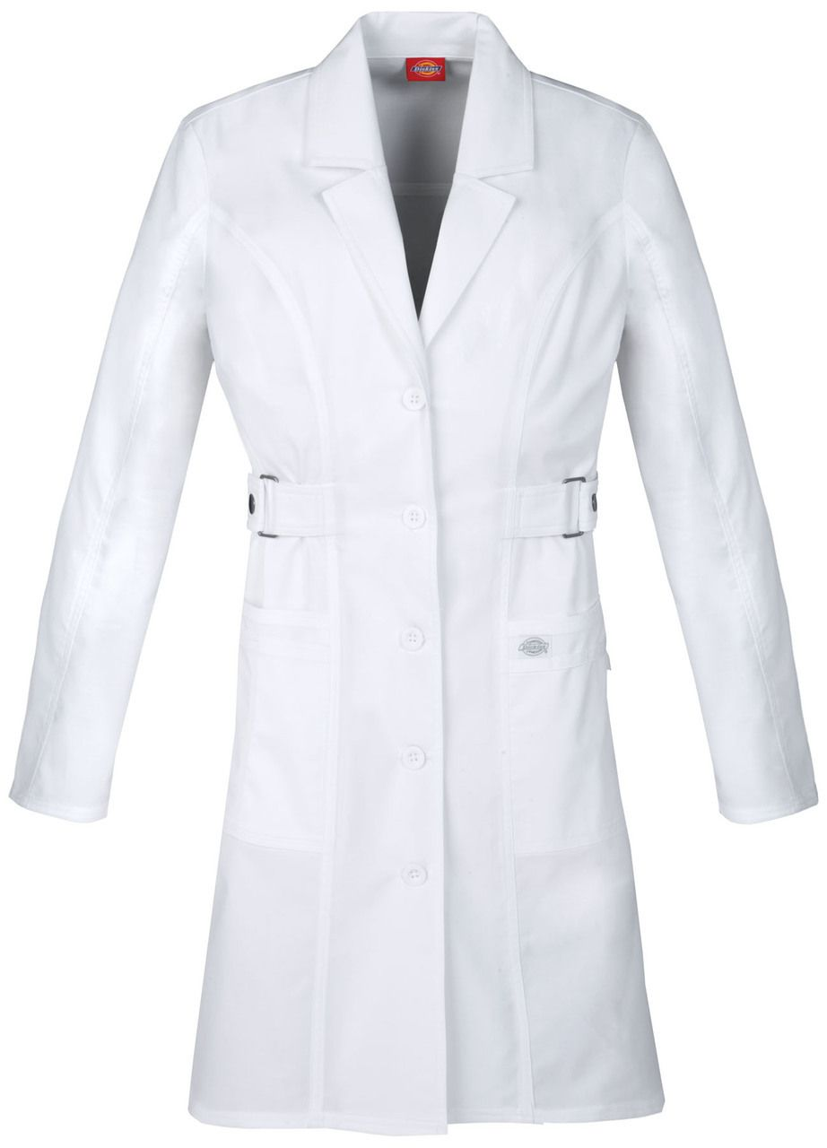 Dickies Mujer Bata Para Manga De Larga Laboratorio Medical 82410 rrg8OP