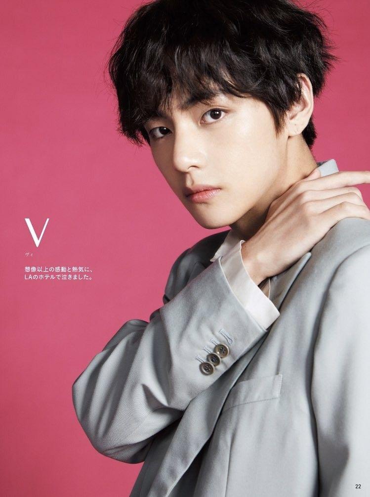Anan Magazine Taehyung V Selebritas Aktor Musisi