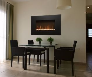 Wall Mount Fireplace In Dining Room