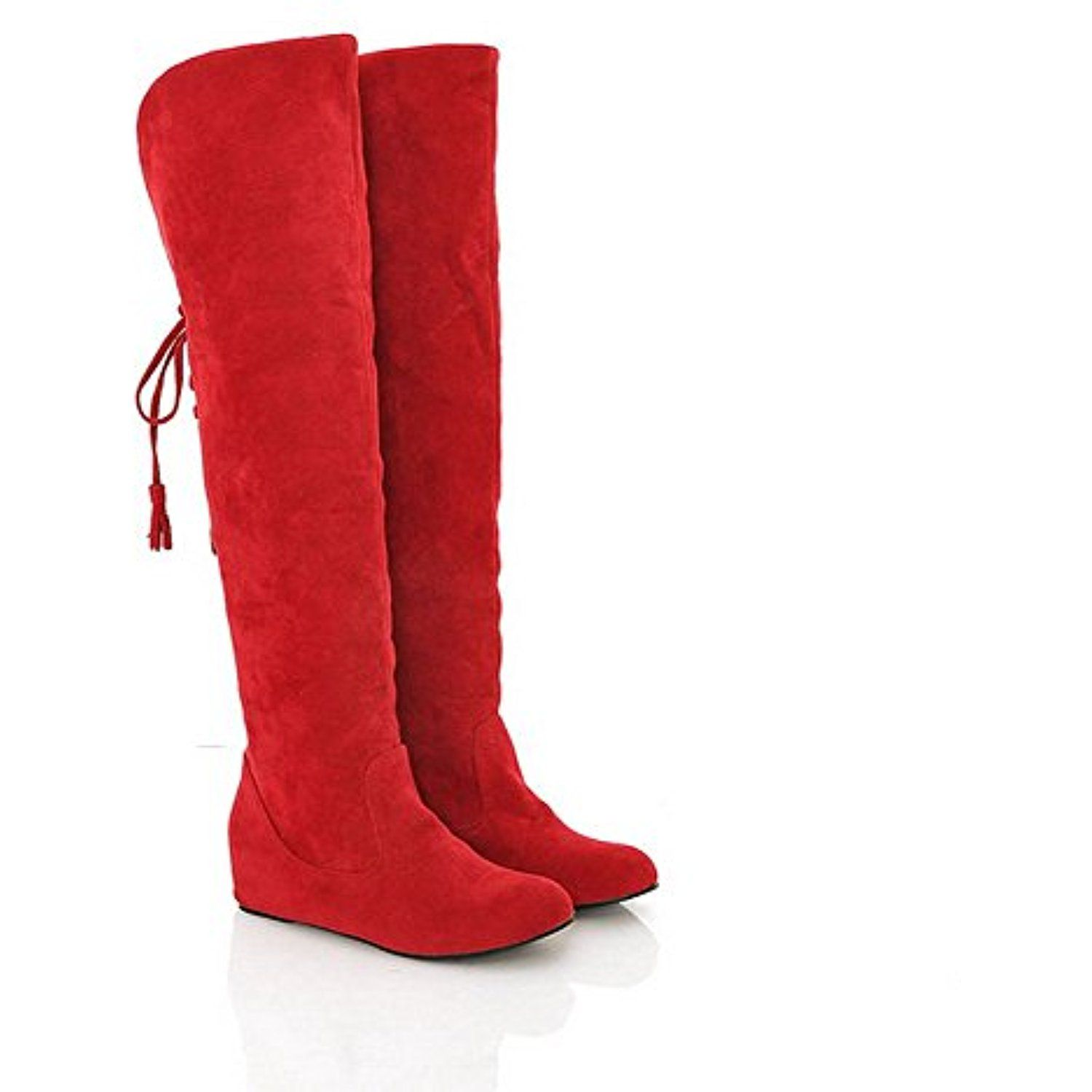 Womens Closed Round Toe Low Heel Frosted PU Solid Boots