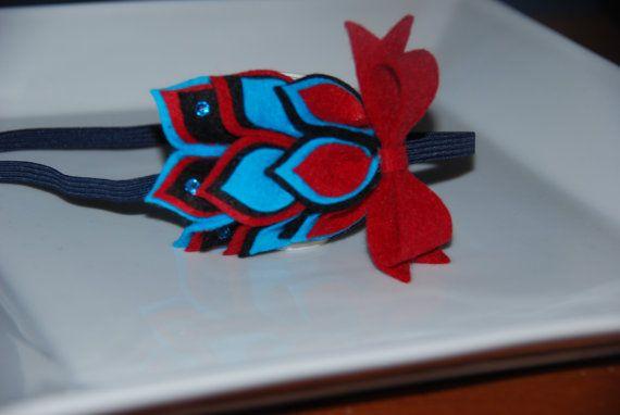 Dr Seuss Inspired Felt Flower Headband / by lilibirdbowtique, $17.99