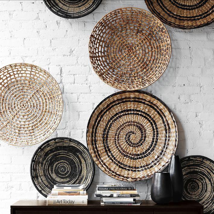 Wall Mesmerizing Woven Basket Wall Art Flat Best 25 Baskets On