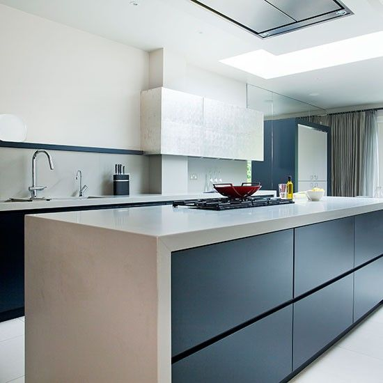 Modern Kitchen With Quartz Composite Worktop The Silver