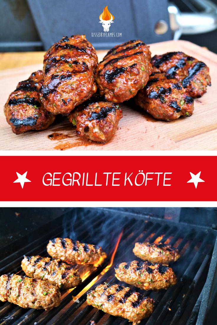 Gegrillte Köfte | Super saftige Köfte vom Grill - kissedbyflames.com