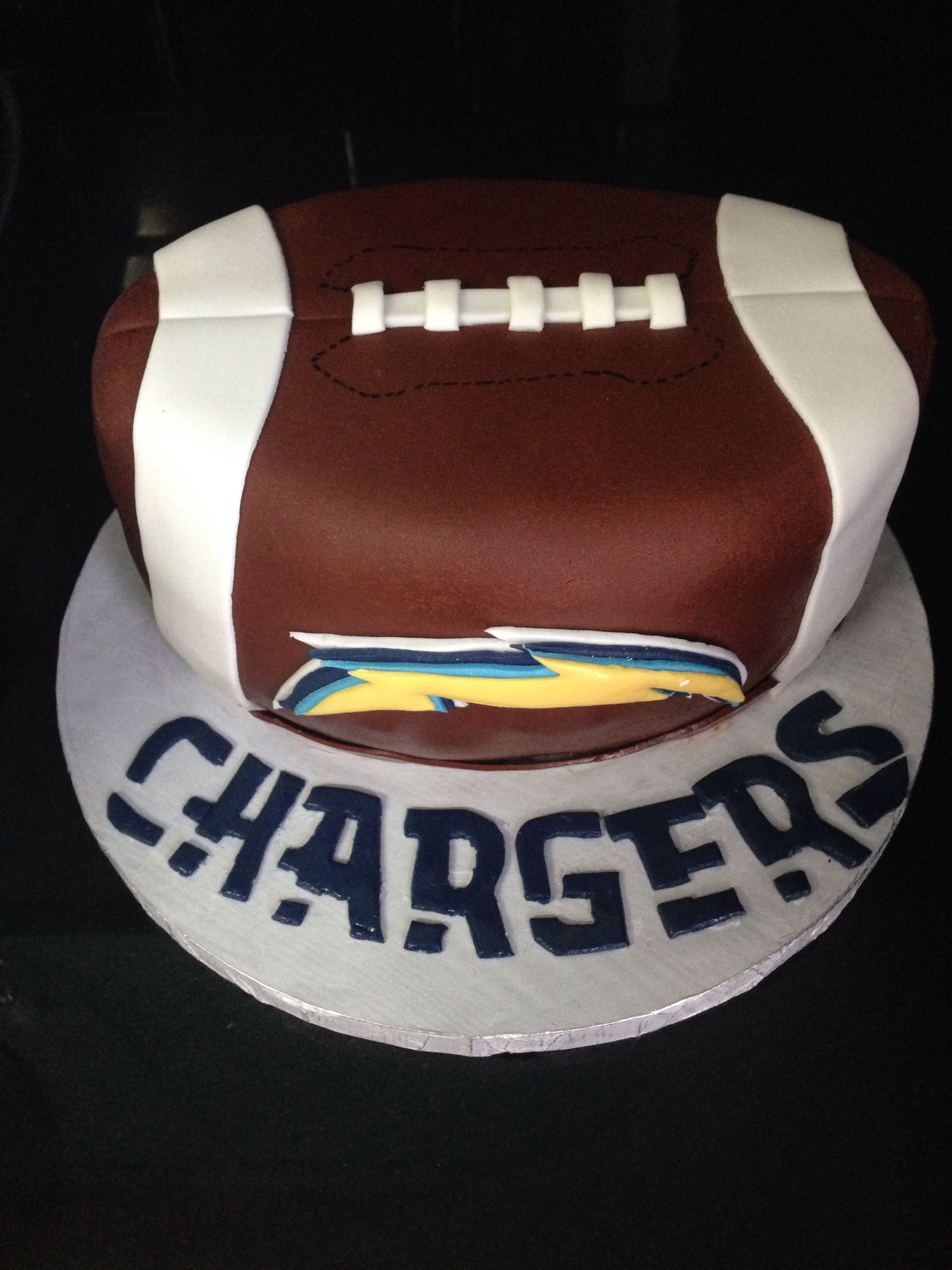 San Diego Chargers Football Cake 7th Birthday Cakes