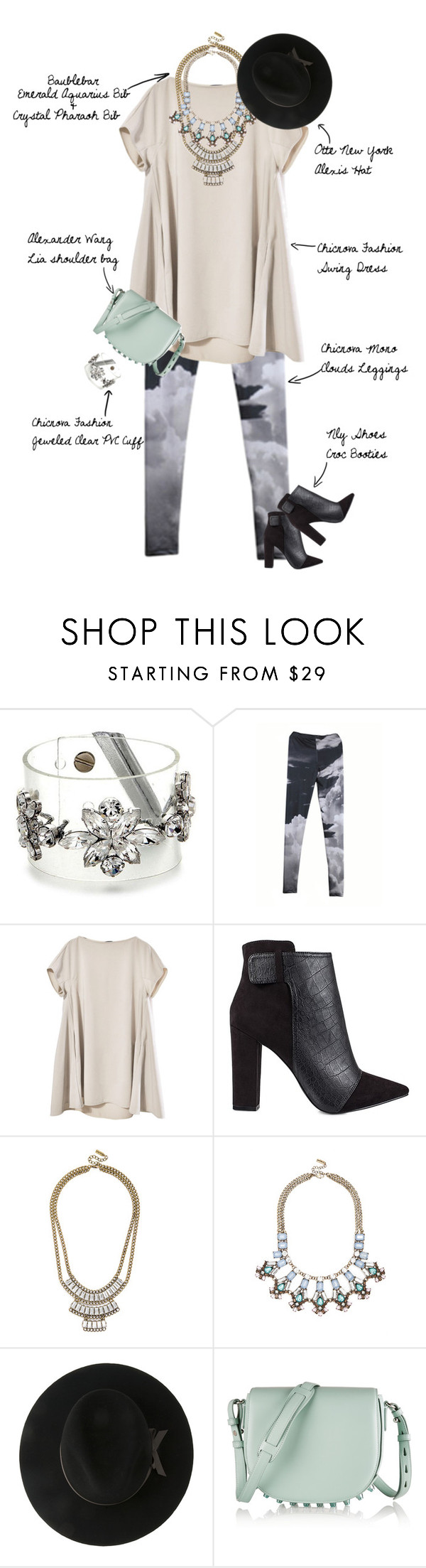 """""""Dust Clouds & Mists"""" by fashionscribbles ❤ liked on Polyvore featuring Nly Shoes, OTTE, Alexander Wang and vintage"""