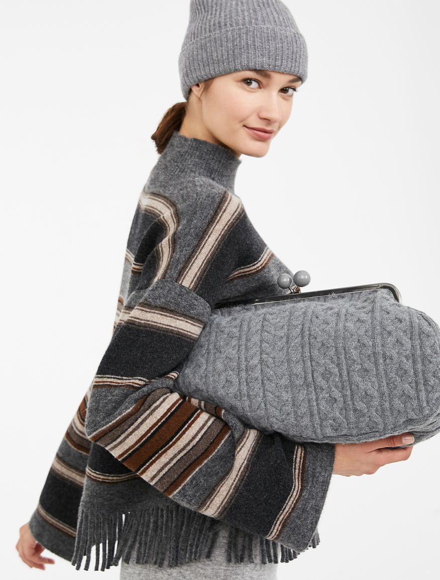 Maxi Pasticcino knitted bag, light grey – Weekend Max Mara