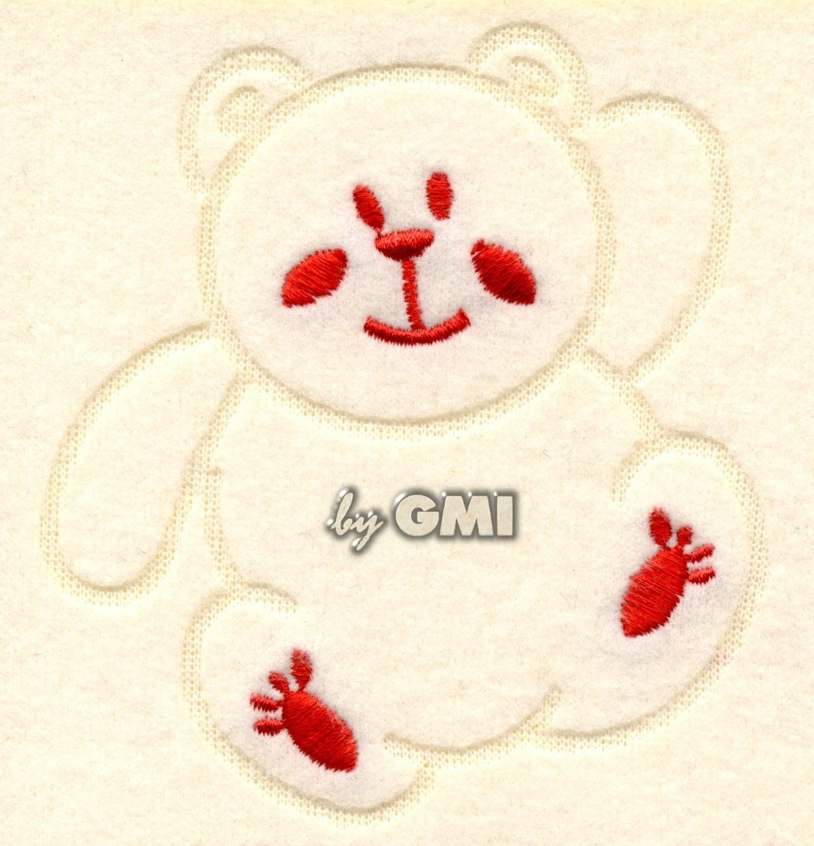 Soft as a snow flake, this bear engraved and embroidery on felt fabric. Made with GMI laser III machine.