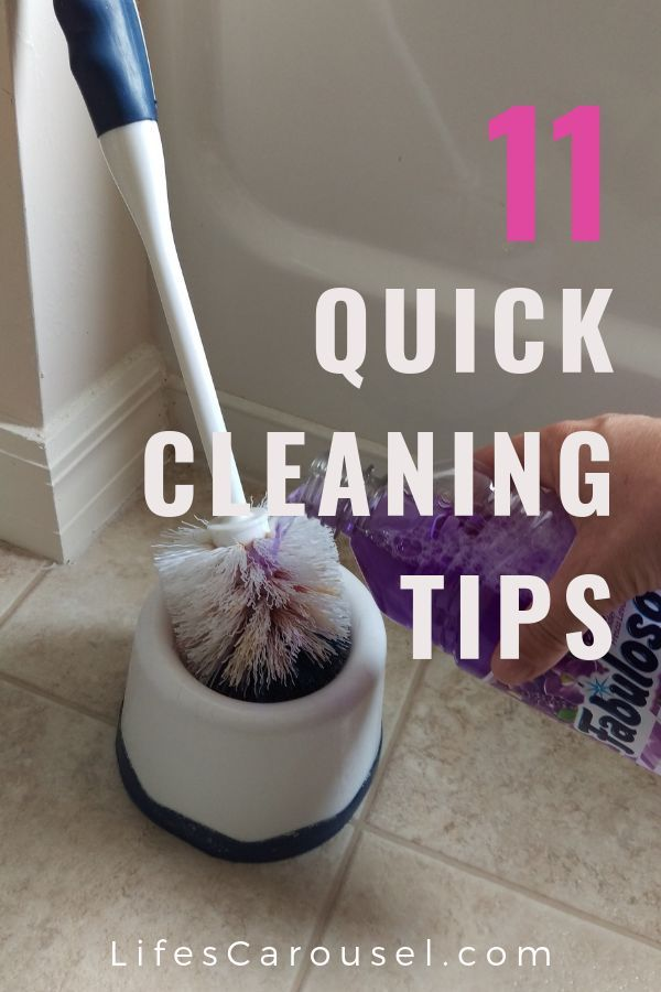 11 Quick Cleaning Tips  October 2019 11 Quick Cleaning Tips  October 2019