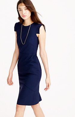 Jcrew Sheath Dress In Italian Stretch Wool