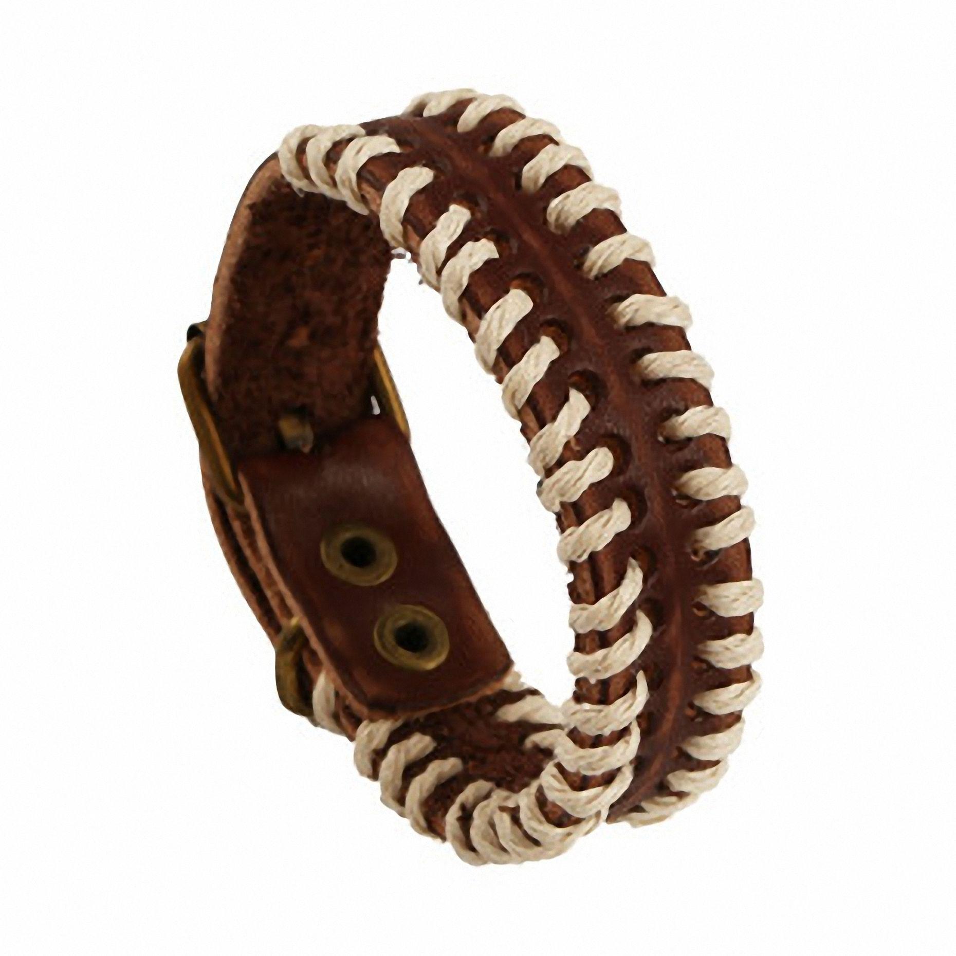 handmade genuine leather  hand woven cool high quality bracelet