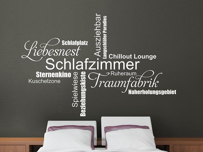 Wandtattoo Moderne Schlafzimmer Begriffe - bild für schlafzimmer