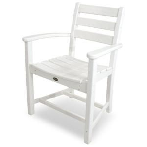 Trex Outdoor Furniture Monterey Bay Classic White Plastic Outdoor Patio Dining Arm Chair Txd200cw Trex Outdoor Furniture Cheap Patio Furniture Dining Arm Chair