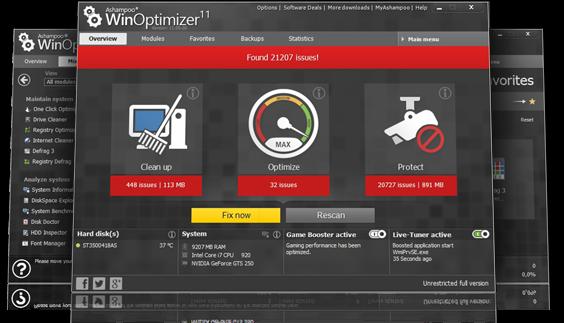 تحميل برنامج لإصلاح أخطاء الكمبيوتر وتسريعه عربى 2018 Ashampoo Winoptimizer 15 Html Javascript Javascript Optimization