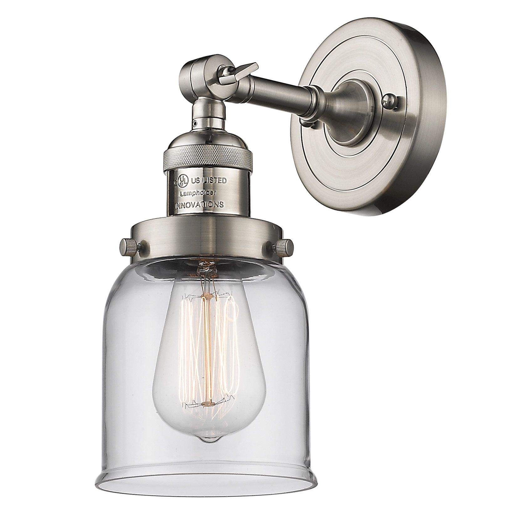 Small Bell Wall Light By Innovations Lighting 203 Ob G53 Adjustable Wall Sconce Sconces Wall Lights