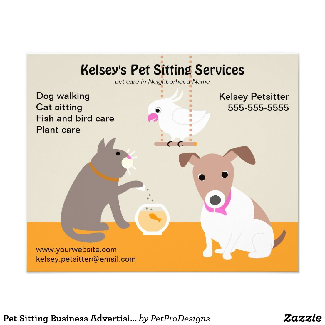 Pet Sitting Business Advertising Flyer Zazzle Com Pet Sitting