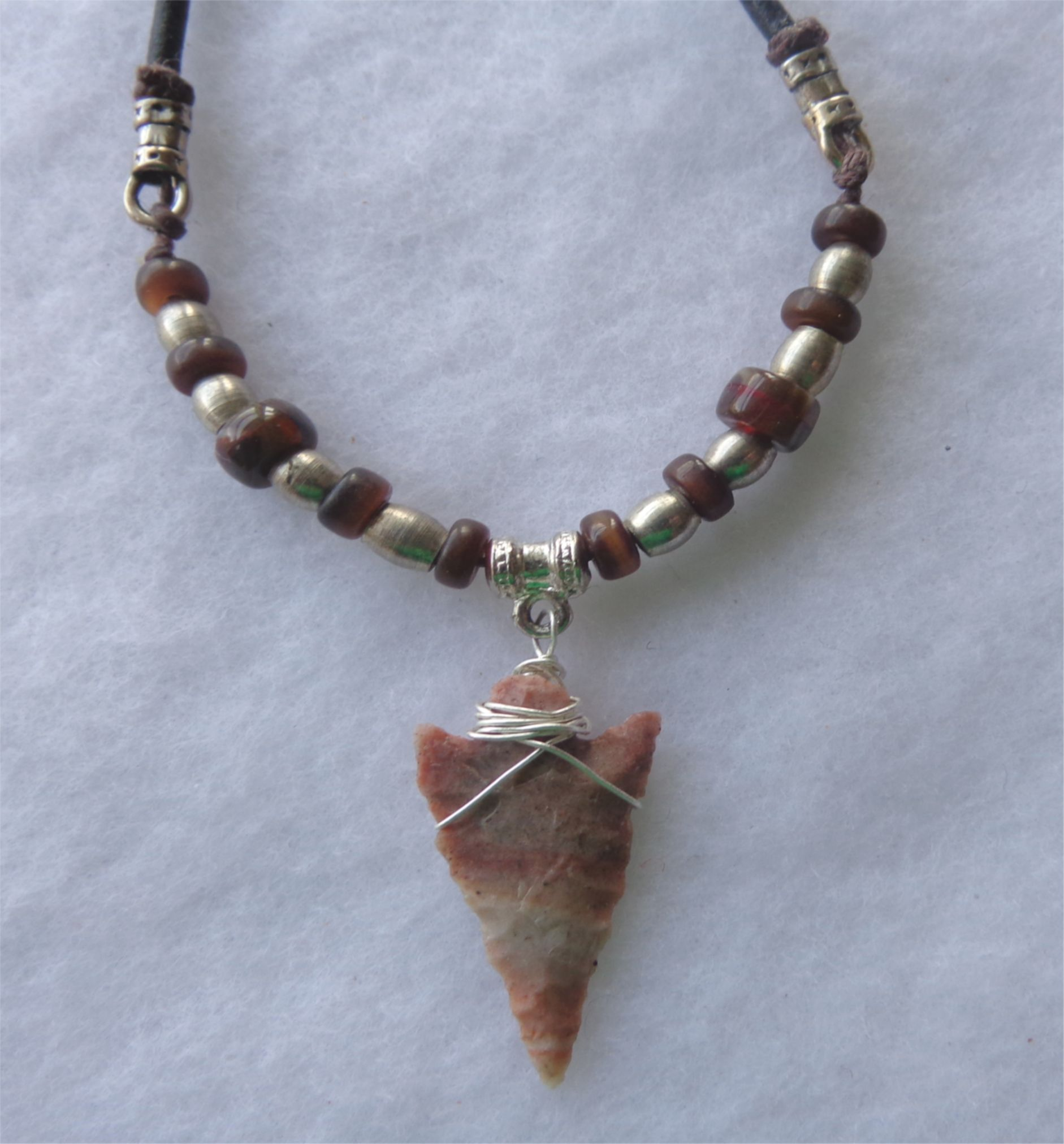4 REAL STONE ARROWHEAD NECKLACE western fashion jewelry stones arrow head NEW