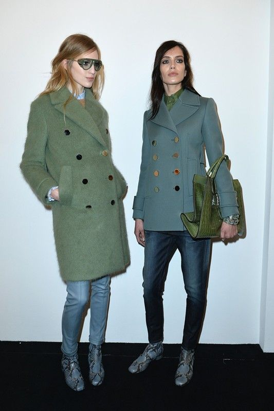 Vanessa Axente (Why Not Models) and Amanda Wellsh (IMG) backstage at Gucci AW14