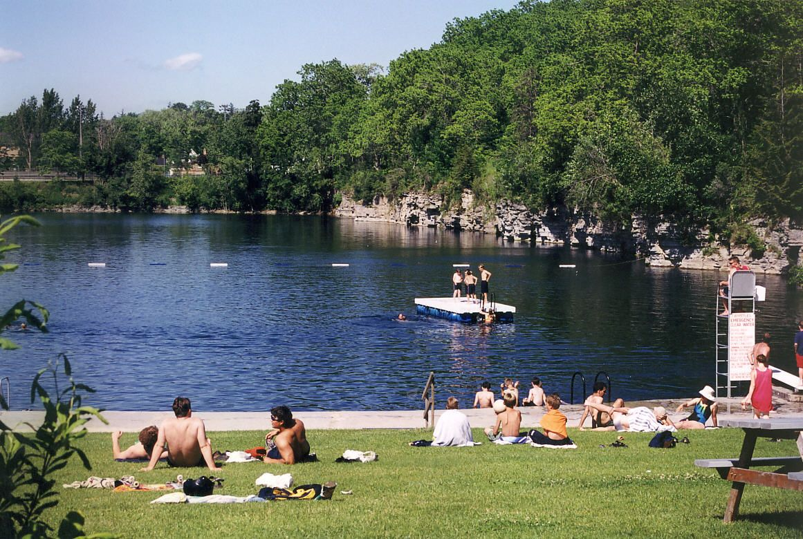 Ontario's largest outdoor natural Swimming area - The Quarry