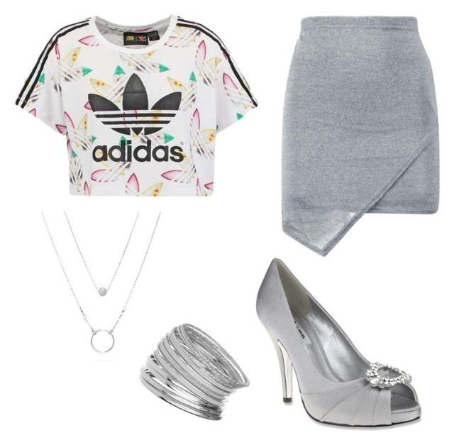 """Fancy Grey"" by artemis16 on Polyvore featuring adidas Originals, Nina and Miss Selfridge"