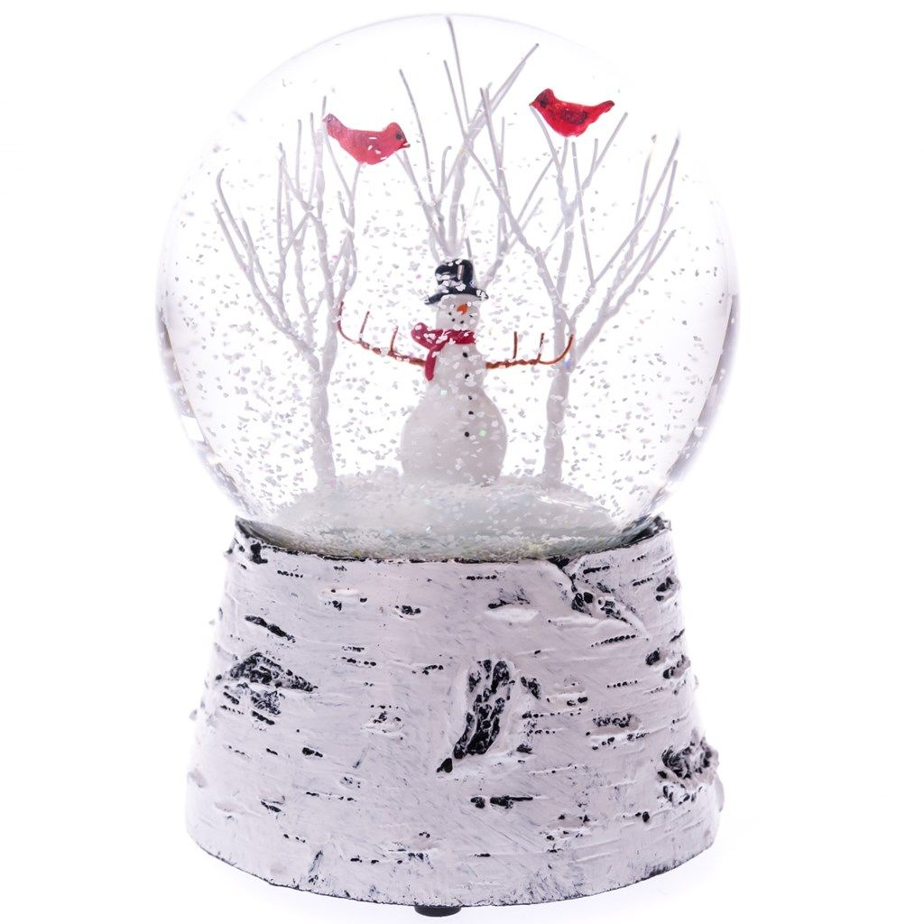 snowman snow globe with music collections traditional
