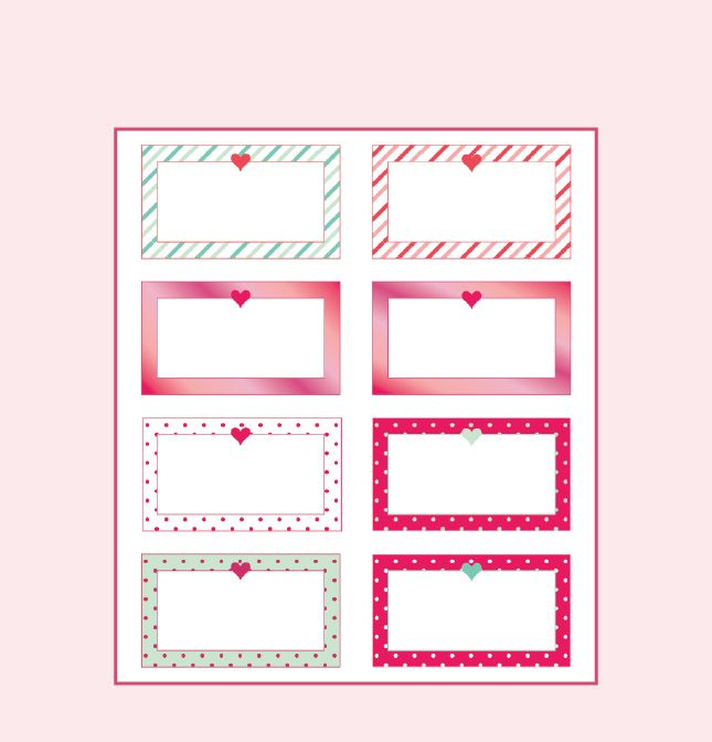 image regarding Printable Love Notes named VALENTINES Working day Delight in Take note No cost PRINTABLES 9 Designs for a