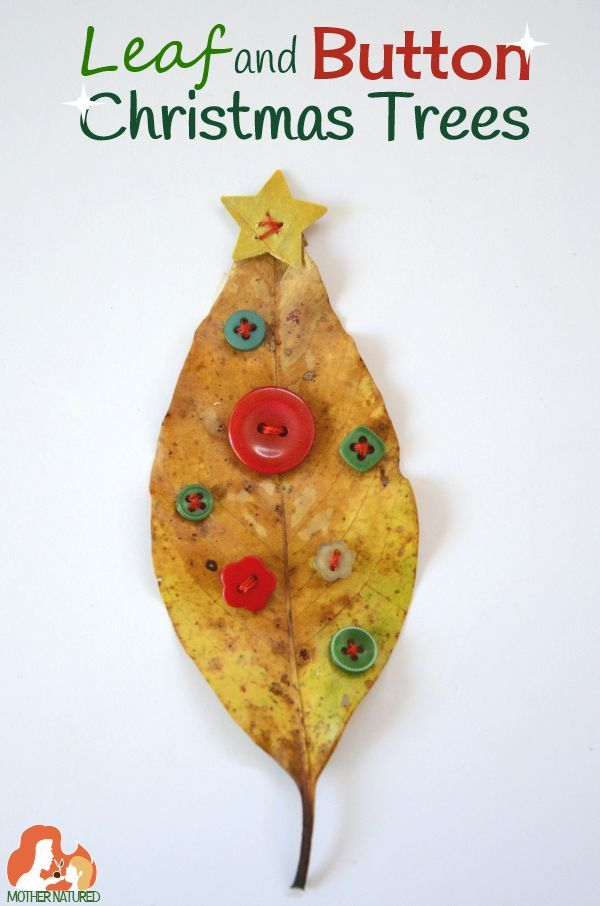 Get crafty with these Leaf and Button Christmas Trees Button