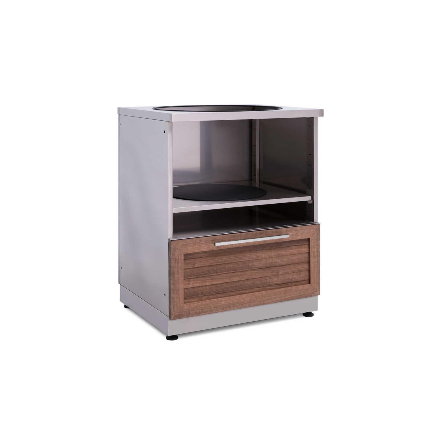Newage Outdoor Kitchen Stainless Steel Kamado Cabinet In Grove 65610 Outdoor Kitchen Cabinets Outdoor Kitchen Newage Products