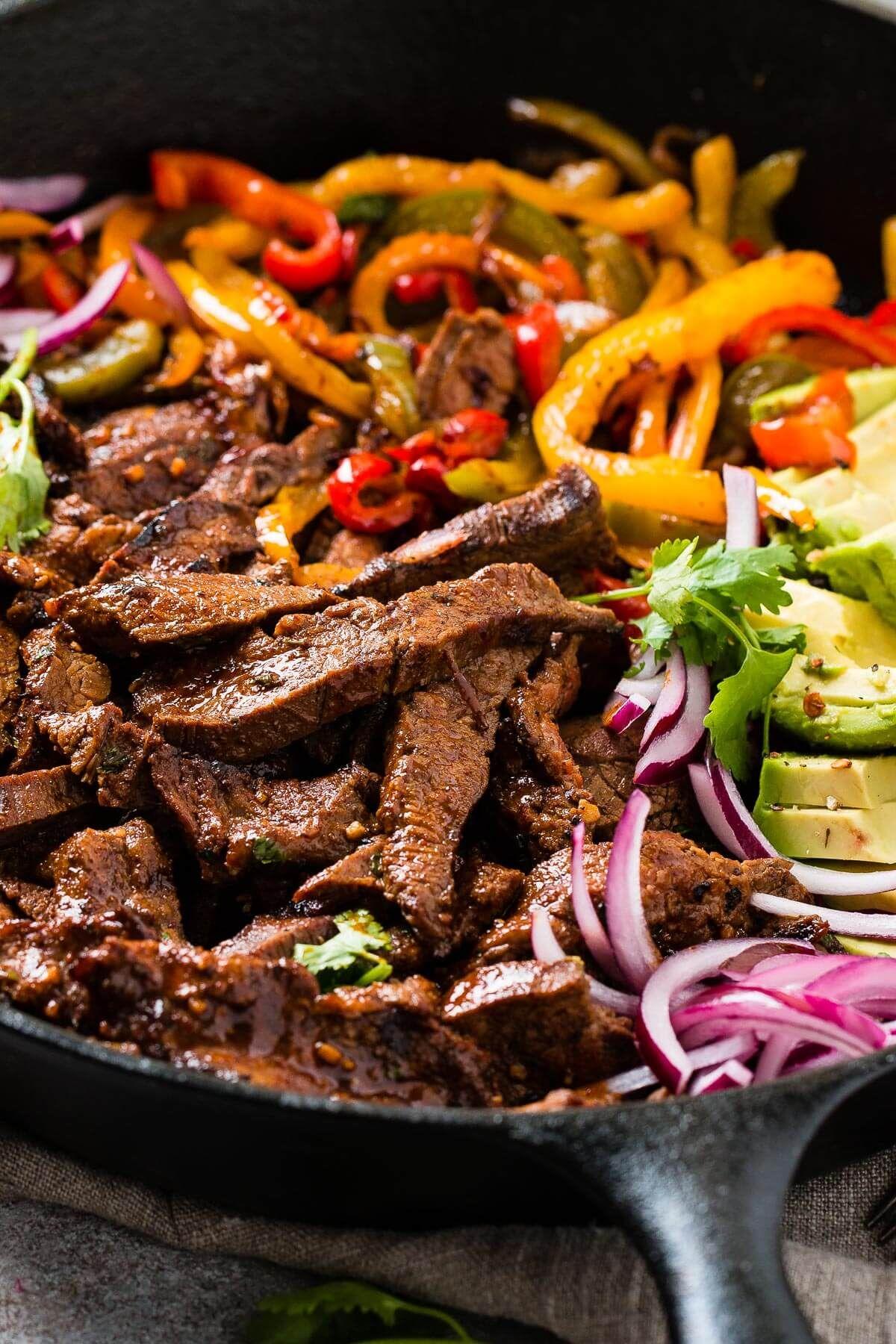 Mexican Steak Fajitas Marinade (Our Favorite!) - Oh Sweet Basil