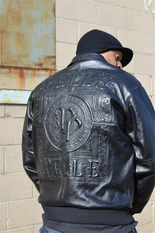 Men/'s Pelle Pelle Black 100/% Genuine Leather Jacket