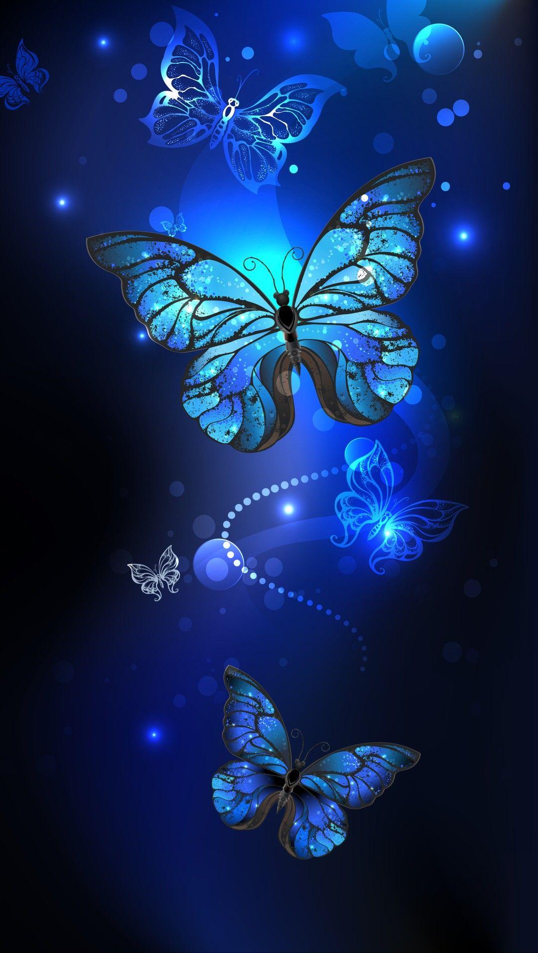 Wallpaper... By Artist Unknown... Blue butterfly