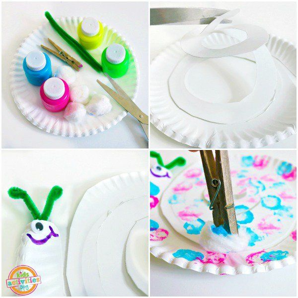 Cotton Ball Painted Snail Paper Plate Craft  sc 1 st  Pinterest & Cotton Ball Painted Snail Paper Plate Craft   Snail Paper plate ...