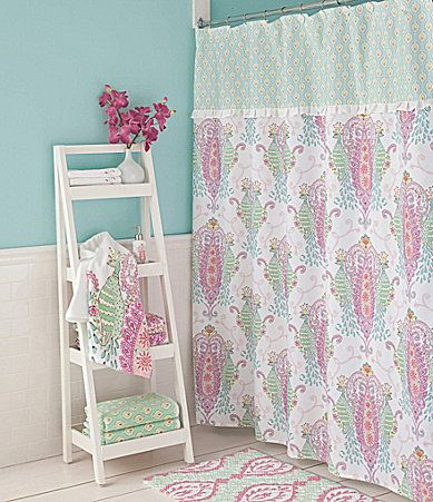 Dena Home Peacock Shower Curtain And Hooks Dillards Peacock