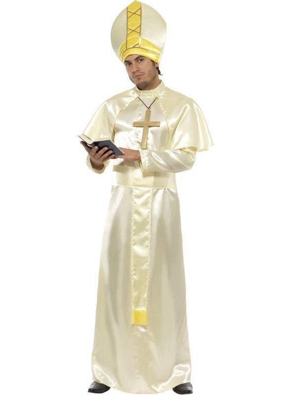 Mens Pope Robes Halloween Costume