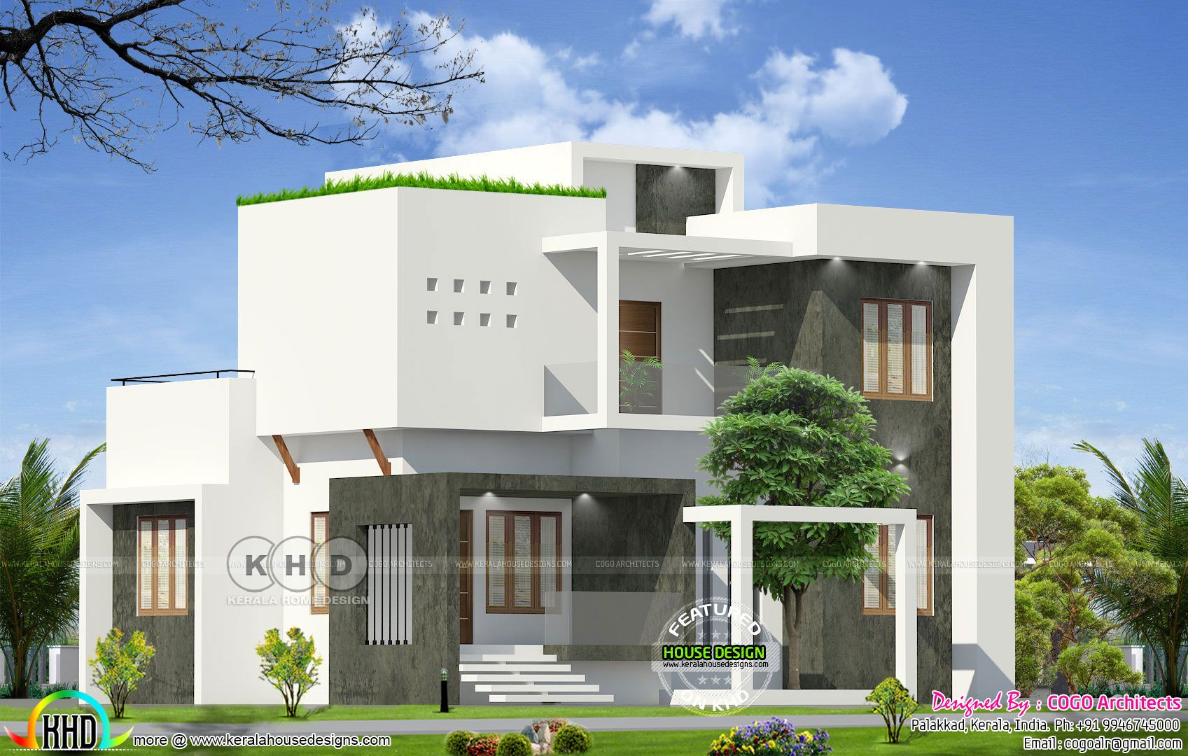 25 Lakhs Budget Contemporary Beautiful Home In 2020 Modern House Facades Duplex House Design Facade House