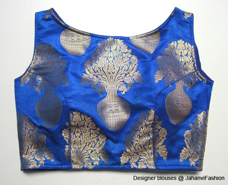 New Designer Readymade Embroidery Work Banglori Silk Wedding Blouse For Saree Stitched Blouse Sari Top For Women Neck Pattern