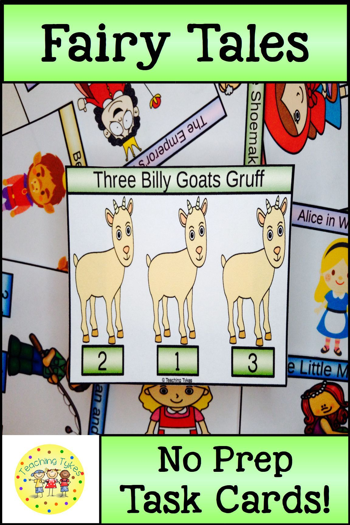 Three Billy Goats Gruff Task Cards With Images
