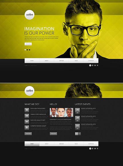 Marketing Agency Website Template Pinterest Template Website