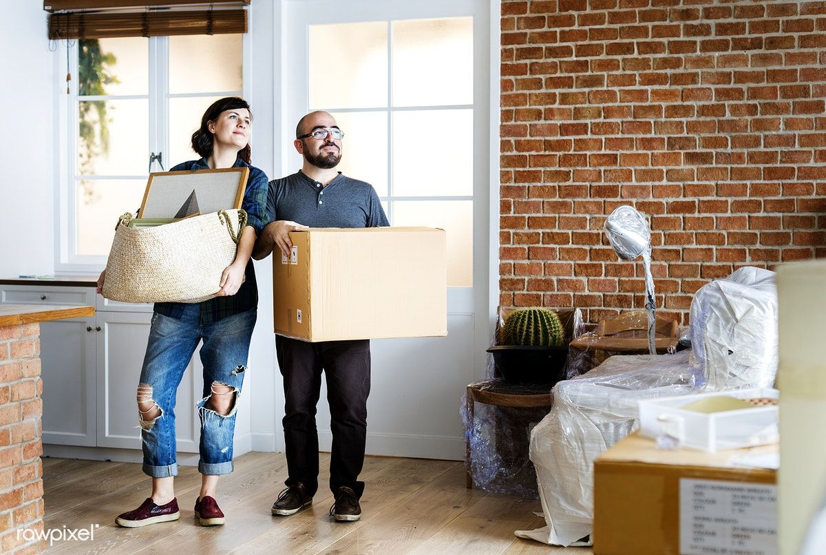 Download Premium Photo Of Couple Moving Into New House 386961