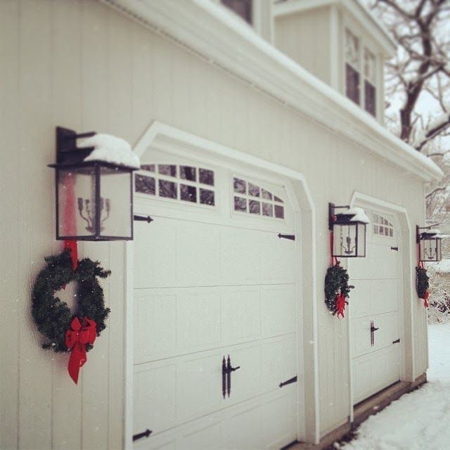 50 Outdoor Garage Lighting Ideas: High Street Market: Carriage House Holiday Wreath