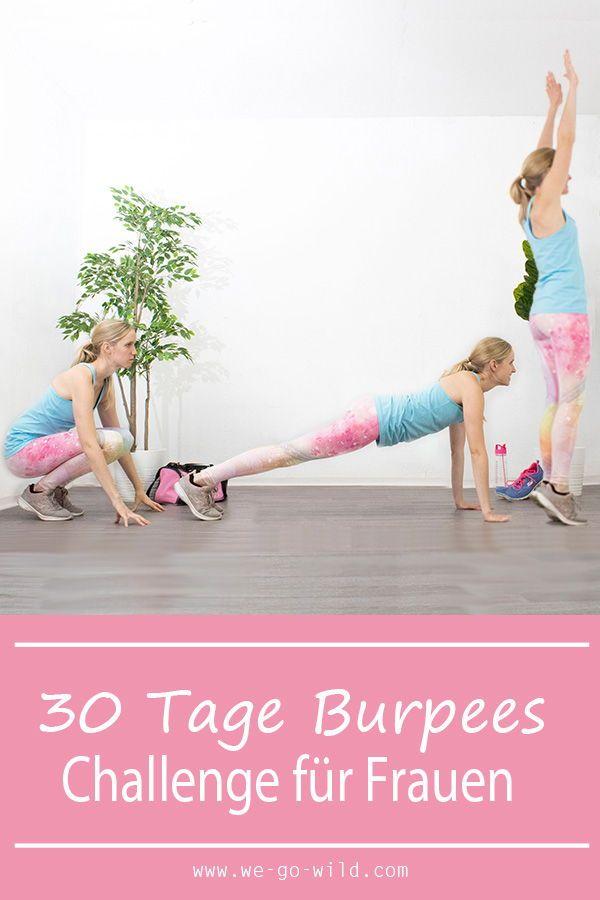 Starte jetzt mit unserer 30 Tage Burpees Challenge! Das Workout für zuhause macht dich richtig fit....