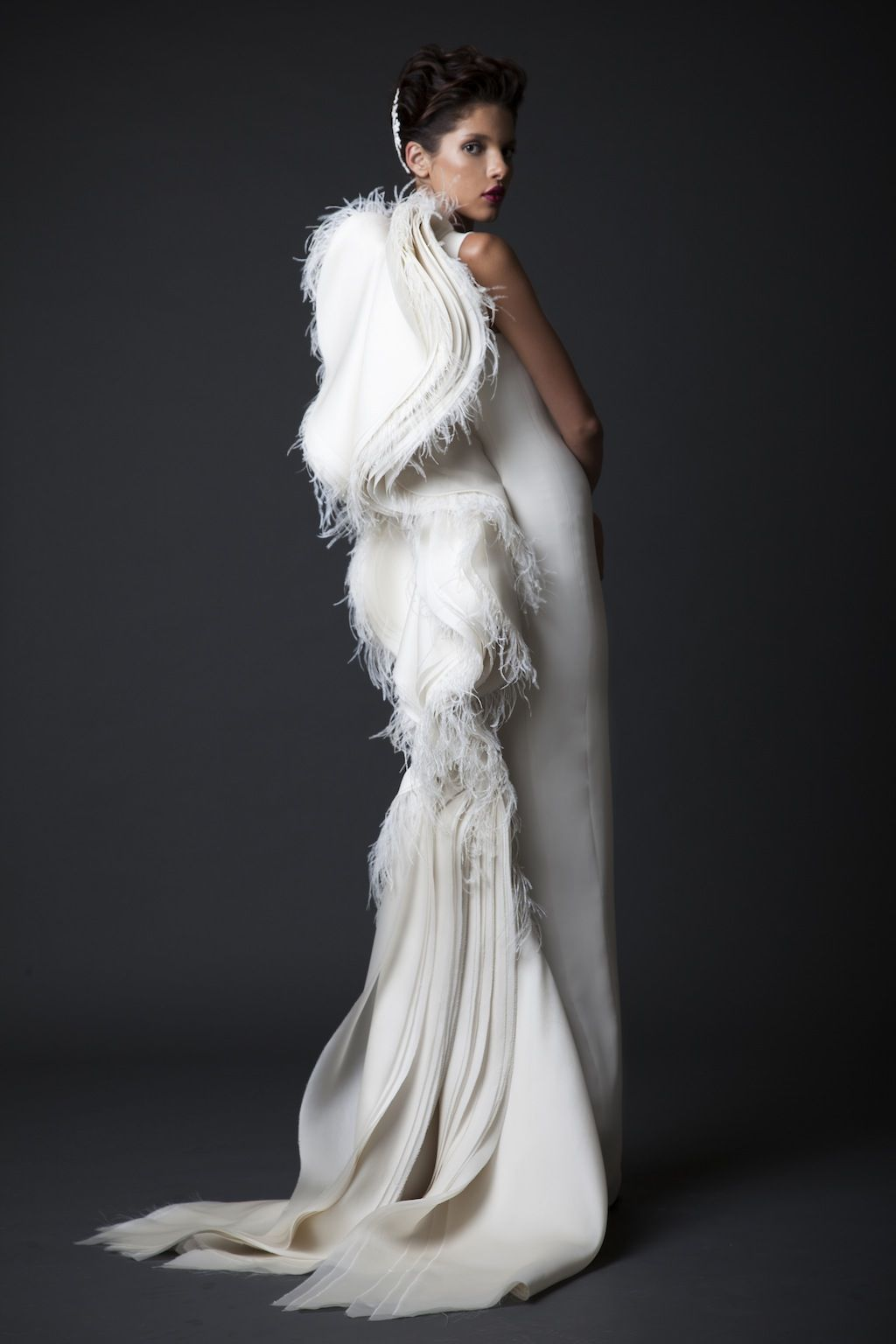 White gown with angel wings...love it! FW14 15  ecf553dafa
