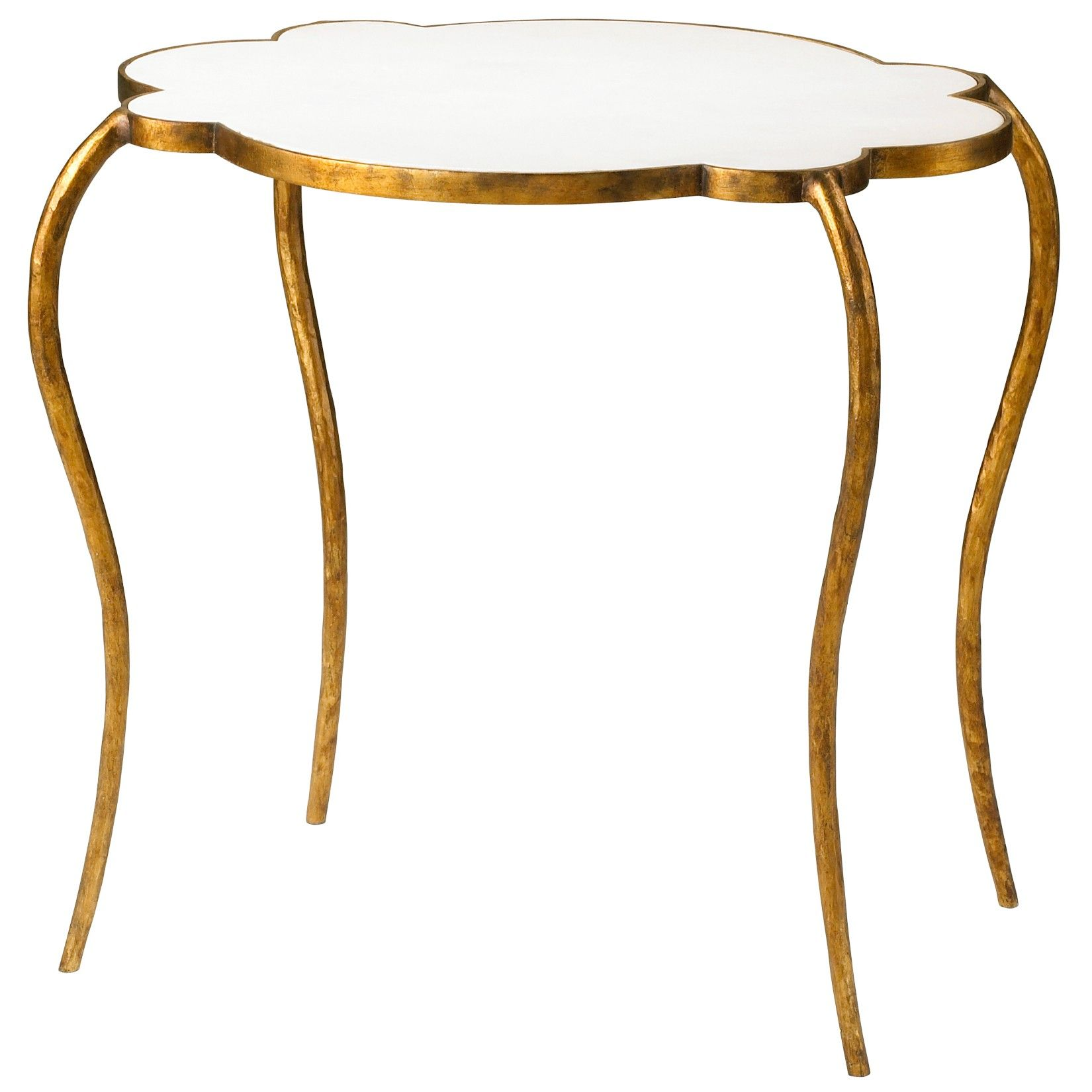 Cyan Flora Side Table Small is part of Home Accessories Styling Side Tables - Small Flora Side Table 23 25 (l) x 18 5 (w) x 22 25 (h) Gold Leaf