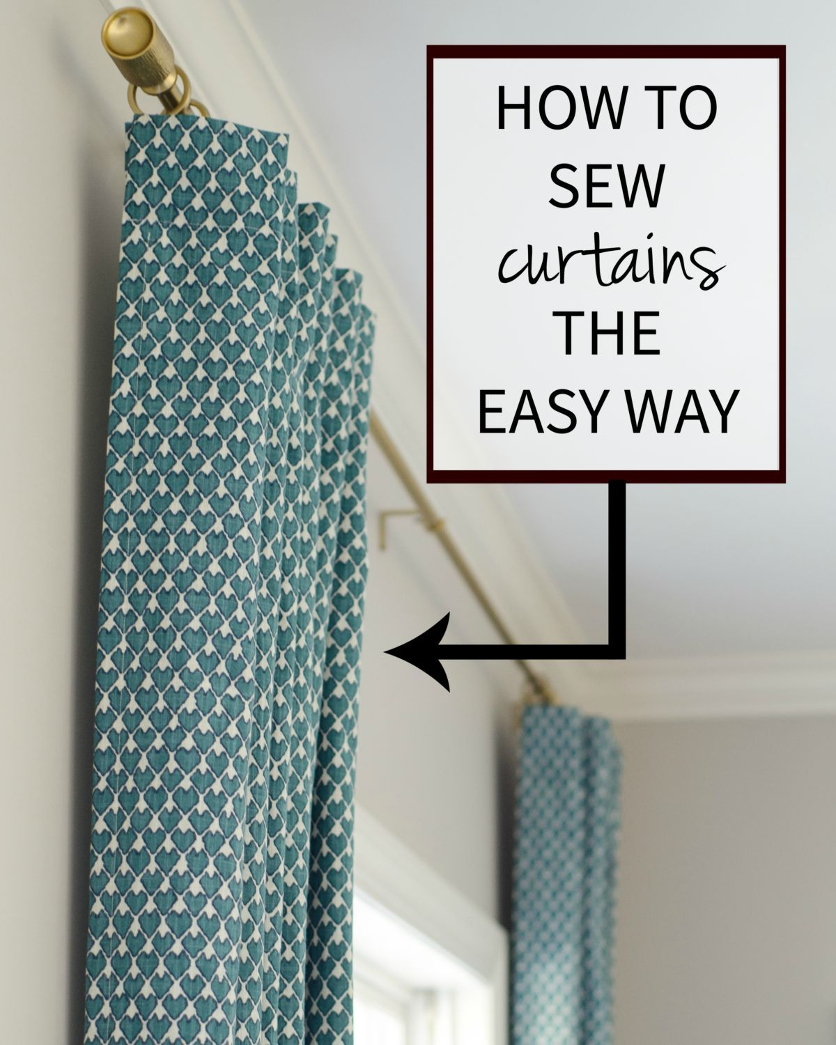 An Easy To Follow Tutorial For How Sew Curtains Yourself So Simple And Will Save You TONS Of Money