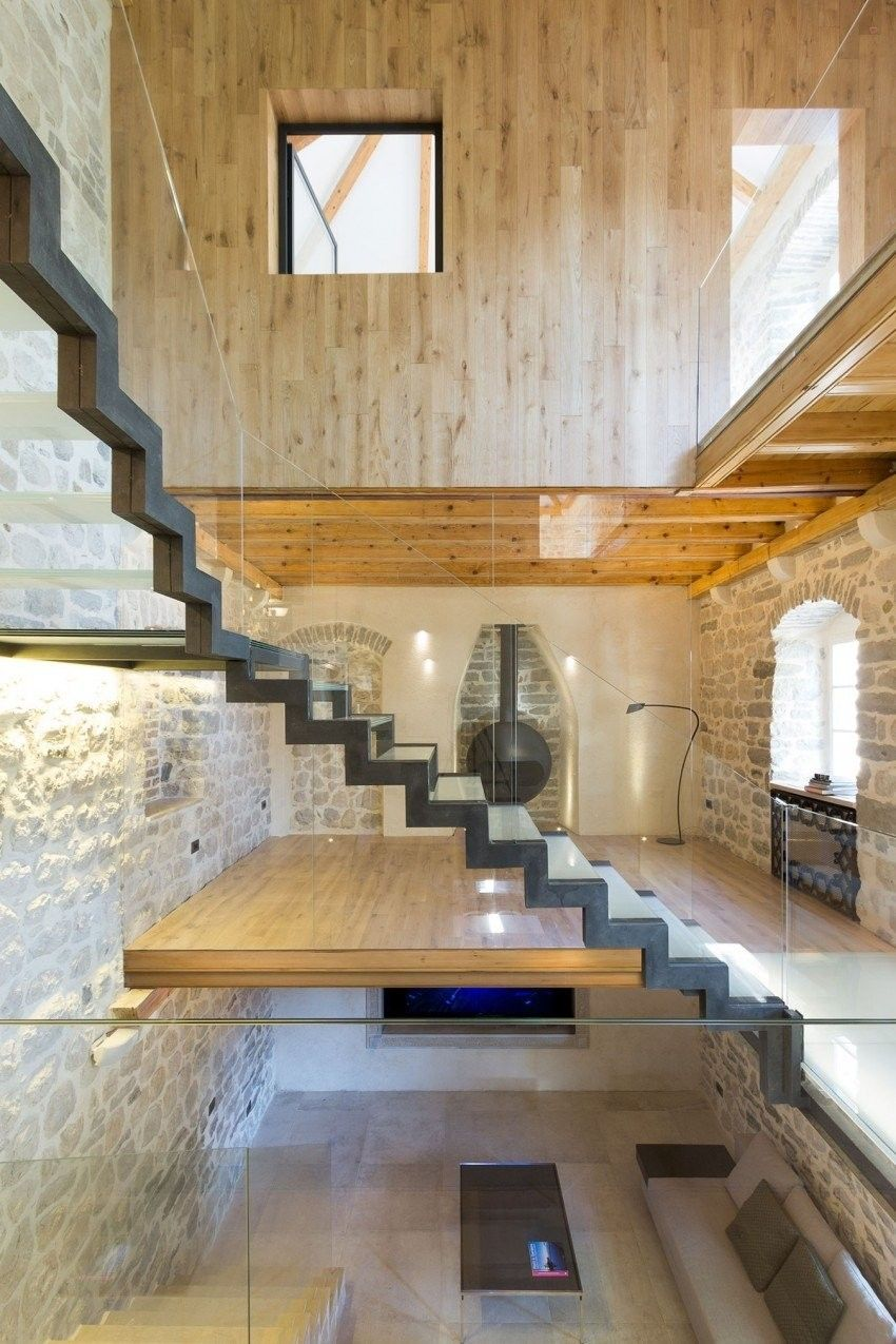 Floating Stairs In A Renovated Villa.   Stairs, Designs Of Stairs Inside  House,
