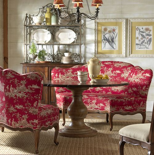 20 Country French Inspired Dining Room Ideas: Furniture-meubles: Highland House Furniture. Poetic French