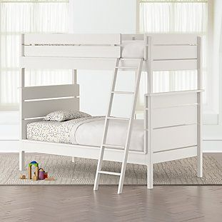 Wrightwood White Twin Over Twin Bunk Bed Twin Bunk Beds Bunk Beds With Stairs Convertible Bunk Beds